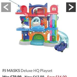 PJ Masks Deluxe HQ Playset - £63.99 @ Very