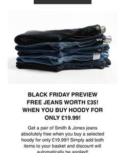 BLACK FRIDAY PREVIEW - Free jeans with hoody for only £19.99 @ Zavvi