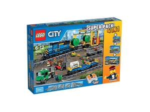 LEGO City 66493 Remote Control Cargo Train, Station, Tracks and Power Functions 4 in 1 Super Pack £159.99 @ John Lewis
