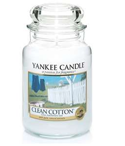 Yankee Candle Large Jar Clean Cotton - PRIME - £11.99 @Amazon Prime / £16.74 non-Prime