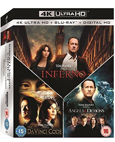 Inferno / Angels & Demons / The Da Vinci Code Box Set 7-Disc Box Set (4K Ultra HD Blu-ray + Blu-ray) [Region Free] - £29.99 @ Amazon