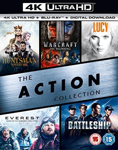 (4K UHD+BD+UV) (The Huntsman Winters War / Warcraft The Beginning / Lucy / Everest / Battleship) - £39.99 @ Amazon