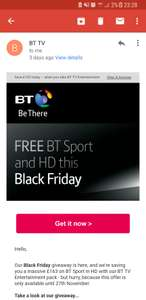 For BT Broadband Customers - BT Sport HD and HD Extra (21 other HD Channels) for just £10/month for 18 months. Normally £25/month. No activation fee (normally £10)