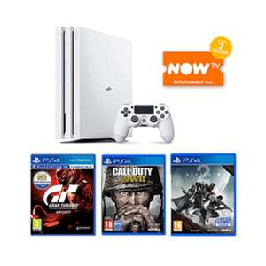 White PS4 pro with cod ww2, destiny 2 and gran turismo sport £319.99 @ Game