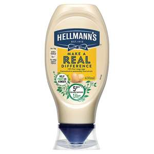Hellmann's Real Squeezy Mayonnaise 430ml  - £1 in store and delivery Tesco