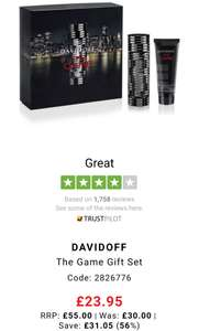 Davidoff the game gift set 100ml £23.95 - TJ Hughes