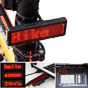 XANES DIY Bicycle Taillight Programmable LED USB Rechargeable for £6.66 @ Banggood