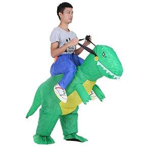 Inflatable dinosaur costume...Raawwwrr! Only £17.59! Sold by HoneyMomy-UK and Fulfilled by Amazon