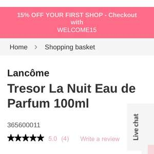 Lancome Tresor La Nuit Eau de Parfum 100ml at Fabled - £60.52