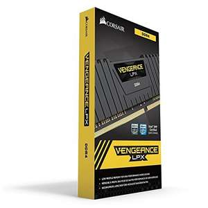 Corsair CMK16GX4M2B3000C15 Vengeance LPX 16 GB (2x8 GB) DDR4 3000 MHz C15 XMP 2.0 High Performance Desktop Memory Kit - Black £165.58 Amazon