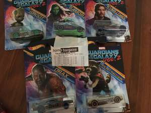 Guardians of the Galaxy Vol 2 Hot Wheels Cars 99p @ Home Bargains