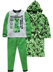 Minecraft Nightwear Set and others Pokemon, Star Wars, Minions,Cars & PAW Patrol £17.99 each Save 1/3 Was £26.99 @ Argos
