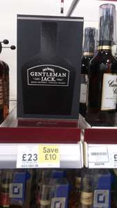 Gift boxed Gentleman Jack 70cl £23 instore at Tesco