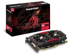 Powercolor AMD RX 580 8GB DDR5 Red Dragon Graphics Card - £238.98 @ Ebuyer