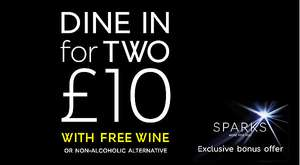 Marks & Spencer Dine-in for £10 with wine or champagne for Sparks Members for an extra £10 is on again for Black Friday weekend