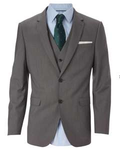 Tailored Fit Grey Textured Suit Jacket £15 Burtons - Free c&c