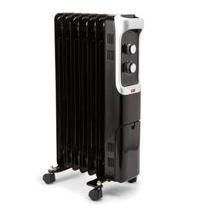 Electric 1500W Black Edition Oil-Filled Portable Radiator for £23 with 2 Years Guarantee @ B&Q (Free C&C)