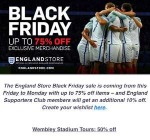 Black Friday England deal upto 75% @ England Store