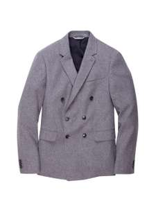 Grey Double Breasted Flannel Blazer - £25 (with C+C) @ Burton.co.uk