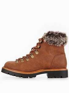 V by Very Chunky Sole Faux Fur Hiker Boots - £25 (free C+C) @ Very