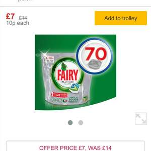 Fairy Platinum All in One 70 dishwasher tablets & Fairy Ultra Power 84 tablets £7 @ Morrisons
