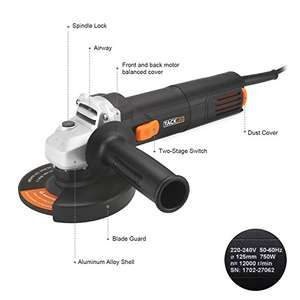 DIY 750W Corded Angle Grinder + 3 Discs Free Postage for £26.39 sold by VE-UK and Fulfilled by Amazon - Lightning deal