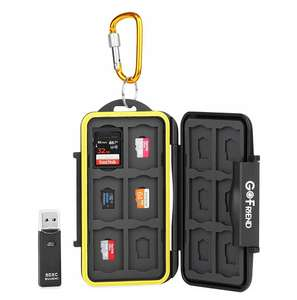 GoFriend Water-Resistant 24 Slots Memory Card Carrying Cases Professional Anti-shock£7.99 Prime / £11.98 non prime Sold by GoFriendUK and Fulfilled by Amazon