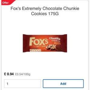 Fox's Chucky cookie 94p @ tesco