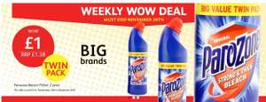 Parazone Thick Bleach 2 Pack 750ml £1 @ Poundstretcher In store