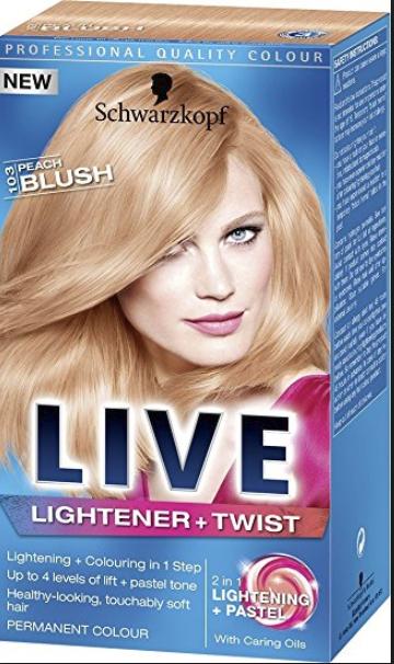"""Schwarzkopf Live """"lightener and twist"""" in peach blush (103) 55p @ Superdrug Winchester"""