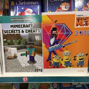 Despicable Me and Minecraft annuals in £1 Poundland