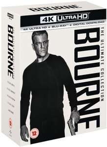 Bourne Ultimate Collection 4K UHD + Blu Ray + UV £39.99 @ HMV & Amazon UK