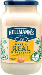 Hellmann's Real or Light Mayonnaise (600g) was £2.60 now £1.50