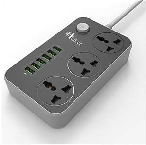 Universal outlets Power Strip with 6 USB Ports £16.99 prime / £21.74 non prime Sold by COCOCI and Fulfilled by Amazon.