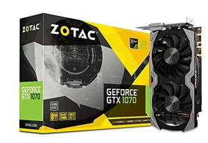 Zotac NVIDIA GeForce GTX 1070 8 GB Mini Graphics Card - Black (Pre-Order) Available 1/12/17 £349.99 @ Amazon