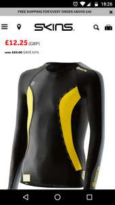 Skins compression up to 65% off in outlet - £5 del - Free over £40