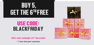 Buy 5, Get The 6th Free - 1 free item per customer - Offer ends midnight, 24th November @ Everything5pounds