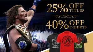 WWE Euroshop 40% off selected T shirts