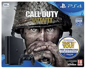 PS4 500GB slim with WWII £218.67 @ Amazon Game Trade Online