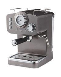 Ambiano Gunmetal Espresso Maker - 15 bar £49.99 @ Aldi