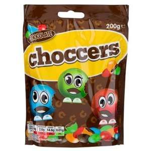 Poundland Choccers (similar to chocolate M&Ms) 50p for 200g bag