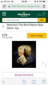 1kg of Stilton for £10! @ Morrisons