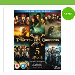 Pirates of the Caribbean 1-5 bluray box set zavvi £24.99