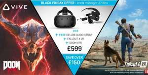 HTC Vive + Deluxe Audio Strap + Fallout 4 VR + DOOM VR for £599