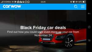 Various car dealer black friday offers across 13 car makes, on top of prices found via carwow