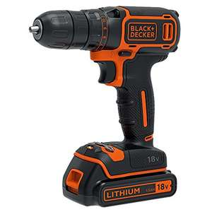 BLACK+DECKER 18 V Lithium-Ion Drill Driver with one battery for £35.99 @ Amazon