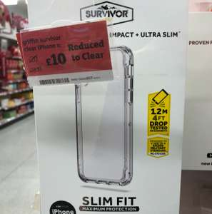 Griffin survivor clear iphone x case £10 Sainsbury's in store
