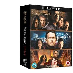 The Da Vinci Code/Angels and Demons/Inferno (4K Ultra HD Boxset) [UHD] £27 @ Zoom