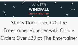 [Starts 11am] Free £20 The Entertainer Voucher with Online Orders Over £40 at The Entertainer via Vouchercodes