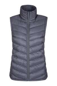 Seasons Reflective Womens Padded Gilet - Grey size 14 only for £3.99 with code (AUTUMN) plus delivery (£4.5) @ Mountain Warehouse